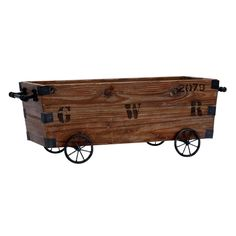 Wood Cart and Storage Crate - Overstock™ Shopping - Big Discounts on Totes, Bags & Boxes