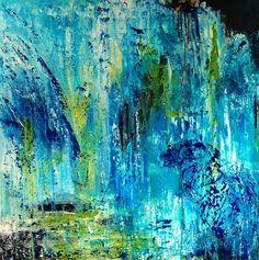 Mindblowing Forest, schilderij van Ans Duin .. Kunst / Abstract / Modern / Schilderij