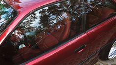 Calypsorot BMW e36 with reddish vader seats