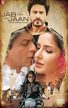 Jab Tak Hai Jaan is a 2012 Indian romance film directed by Yash Chopra and written and produced by Aditya Chopra under their production banner Yash Raj Films. The film features Shahrukh Khan, Katrina Kaif and Anushka Sharma in lead roles, making it the first film to pair Khan and Kaif and the second collaboration between Khan and Sharma after Rab Ne Bana Di Jodi.[4] It was Yash Chopra's fourth film to feature Shahrukh Khan in the lead role, the former returning as a director after eight…