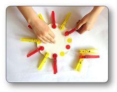 Un atelier pince à linge en maternelle réaliser des algorithmes, atelier pinces…