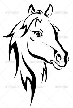 Black horse silhouette - GraphicRiver Item for Sale