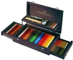 Insane! Faber-Castell Art & Graphic Collection in Mahogany box! What a superb gift!