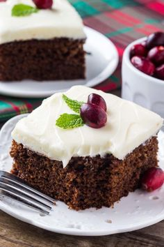 This moist gingerbread cake with cream cheese frosting is perfect for the holidays. Filled with ginger, cinnamon, brown sugar & molasses - it's packed with warm, cozy flavors.