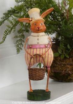 Mr Bigelow Easter Bunny Rabbit Figurine by Lori Mitchell