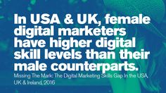 In USA & UK, female digital marketers have higher digital skill levels than their male counterparts. A Days March, Stem Science, Prime Time, Women In History, Things To Think About, Digital Marketing, Technology, Math, Female