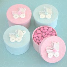Idea for girl baby shower pictures photos and images for handmade baby carriage boxes set of shower hand cream favors personailzed baby shower favors favors baby shower personalized negle Image collections