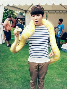 RyeoWook with a snake!