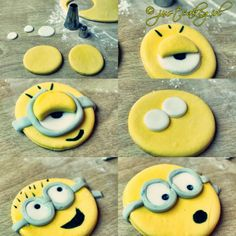 how to make minions fondant for cupcakes Dessert Cake Recipes, Party Desserts, Cupcake Recipes, Cupcake Cakes, Cupcake Ideas, Minion Birthday, Minion Party, 3rd Birthday, Minion Cupcakes