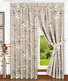 Gray Chatsworth Curtain Panel - Set of Two