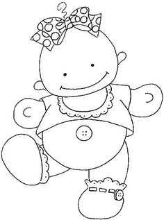 Baby coloring pages Embroidery Cards, Embroidery Patterns, Hand Embroidery, Baby Coloring Pages, Coloring Books, Colouring, Kids Cards, Baby Cards, Kids Scrapbook