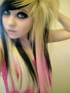 We've gathered our favorite ideas for Girls With Black Hair And Blonde Highlights, Explore our list of popular images of Girls With Black Hair And Blonde Highlights in emo girl with black and blonde hair. Emo Girl Hairstyles, Hairstyles Haircuts, Pretty Hairstyles, Scene Hairstyles, Wedding Hairstyles, Scene Haircuts, Quinceanera Hairstyles, Long Scene Hair, Emo Scene Hair