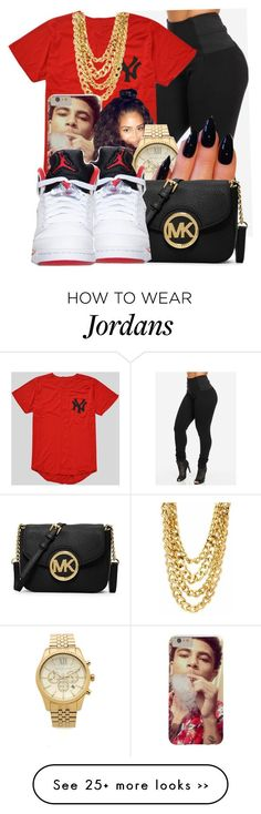 Untitled #75 by oh-thatasia on Polyvore featuring Michael Kors and MICHAEL Michael Kors @@Thug Baby '