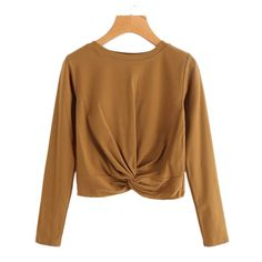 RUIVE Women/'s Tunic Tops Knot Autumn Block Color Crew Neck Casual Basic Blouse Ladies Long Sleeve Sweatshirt Pullover