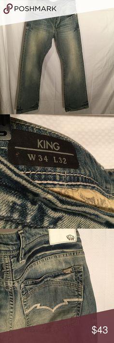 Buffalo king style jeans 34x32 never worn Buffalo men's King style blue jeans in size 34x32 never worn and  in perfect condition.slim boot cut Buffalo David Bitton Jeans Slim