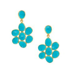 Elyssa Bass Turquoise Flower Earrings