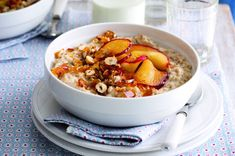 10 luxusních snídaní s ovesnými vločkami Smoothies, Cereal, Oatmeal, Brunch, Menu, Soup, Healthy, Breakfast Ideas, Pray