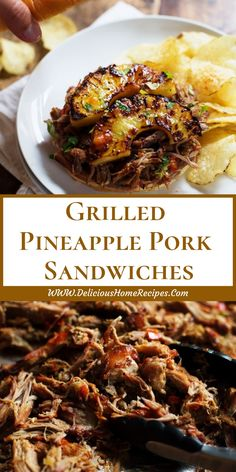 All Delicious Recipes and Food Grilling Recipes, Pork Recipes, Cooking Recipes, Healthy Recipes, Pork Sandwich, Sandwich Recipes, Wrap Sandwiches, Dinner Recipes, Breakfast Recipes