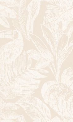 Beige Inverse Jungle Wallpaper R6766 - Base