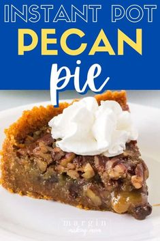 Believe it or not, this decadent pecan pie is cooked in the Instant Pot! It's a simple recipe, chock full of pecans and chocolate chips. Perfect for the holidays when you need your oven for other things! Add it to your Thanksgiving menu today! Chocolate Chip Pecan Pie, Chocolate Chips, Holiday Desserts, Holiday Recipes, Holiday Foods, Pressure Cooker Desserts, Pressure Cooking, Pecan Pie Cheesecake, Instant Pot Dinner Recipes