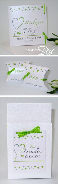 Trendy Einladungskarte Zur Hochzeit Und Taufe. Die Passende Tischdeko Und  Papeterie Findet Ihr In Unserem