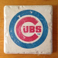 Chicago Cubs coasters $18 on Etsy