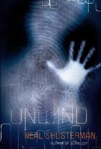 """Unwind By Neal Shusterman Connor, Risa, and Lev are running for their lives. The Second Civil War was fought over reproductive rights. The chilling resolution: Life is inviolable from the moment of conception until age thirteen. Between the ages of thirteen and eighteen, however, parents can have their child """"unwound,"""" whereby all of the child's organs are transplanted into different donors, so life doesn't technically end..."""
