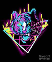 RAVE music poster - Google Search Pixel Art, Rave Music, Tiger T Shirt, Vaporwave, Cool T Shirts, Lion Sculpture, Neon, Retro, Prints