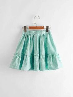 Girls Knot Waist Ruffle Hem Heart Print Skirt – Kidenhouse