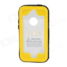 Color: Black + Yellow; Model: SK-109; Quantity: 1 Piece; Material: Plastic Plastic PC + PVC + silicone; Shade Of Color: Yellow; Compatible Models: IPHONE 5S,IPHONE 5C,IPHONE 5; Design: Mixed Color,With Strap; Style: Full Body Cases; Other Features: IPX8 8m underwater water resistant; you can still use the camera or checking emails without removing the case; Packing List: 1 x Case1 x Strap; http://j.mp/1lky6wA