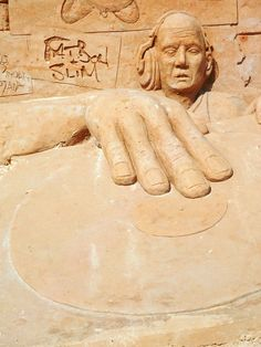 Brighton Sand Sculpture Festival - 1990s (Fat Boy Slim) by Bouke Atema.