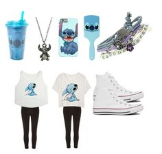 """""""Stitch set for stitch lovers❤️"""" by bellarojo2704 ❤ liked on Polyvore featuring мода, Disney, River Island и Converse"""