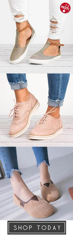 T-Strap Sneakers Flats,Lace Up Perforated Oxfords Shoes,Soft Comfort Shoes Plush Slip On Warm Loafers Cute Fashion, Fashion Shoes, Fashion Accessories, Fashion Outfits, Womens Fashion, Cute Shoes, Me Too Shoes, Oxfords, Loafers
