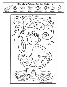 "This ""Hidden Pictures"" activity is part of a four page set of printables perfectly suited for summer!"