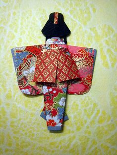Hand-made Japanese paper doll for Maggz_back by tengds, via Flickr  for 1500 free paper dolls, go to my website Arielle Gabriel's The International Paper Doll Society...