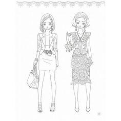 """韓国のぬりえ本 少女ルック ファッションコーディ カラーリングブック -紙人形と一緒 (大人の塗り絵) /【Buyee】 """"Buyee"""" 日本の通販商品・オークションの代理入札・代理購入 Colouring Pages, Adult Coloring Pages, Coloring Books, Cute Drawings, Drawing Sketches, Barbie Images, Digi Stamps, Coloring For Kids, Anime Style"""