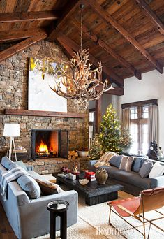 Lodge Style, Rustic House, Decor, House Interior, Mountain Home Interiors, Building A New Home, Rustic Contemporary, Great Rooms, Home Decor