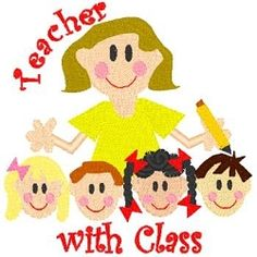 Girl Teacher with Class   back-to-school   Machine Embroidery Designs   SWAKembroidery.com Band to Bow