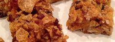 Pentagrammi di Farina Barette con cornflakes, uvetta e cocco #glutenfree #recipe #healthyrecipe #cucinaitaliana #italianfood #foodporn #foodblog #granola pentagrammidifarina.wordpress.com