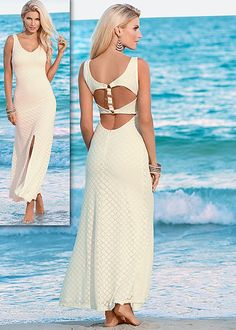 Lace open back maxi in the VENUS Line of Dresses for Women