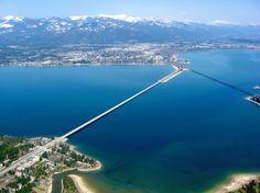 Bridge to Sand Point, Idaho.   Never been across a bridge over water until I met my boyfriend