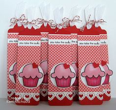 Cards by Kerri: Valentine Cupcake Bookmarks