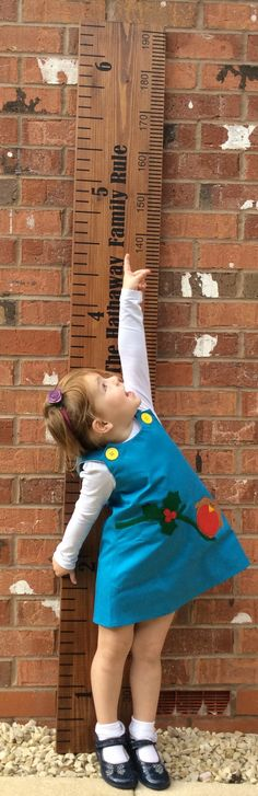 Personalised Wooden Height Ruler