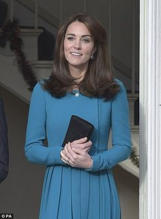 The Duchess of Cambridge, patron of Action on Addiction, leaves following her visit to the...