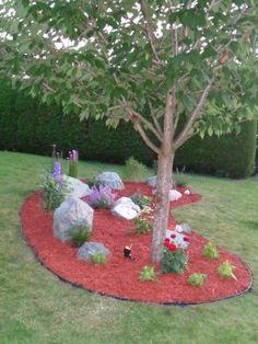 Enelle built a fabulous new rock garden last summer