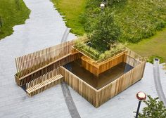 Xylophone-like pavilion built for London Festival of Architecture