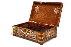19th century Anglo-Indian teak box