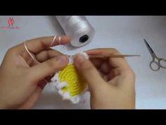 How to Crochet Flower Mat - YouTube