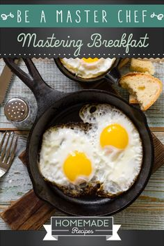 Be A Master Chef: Mastering Breakfast by Homemade Recipes at http://homemaderecipes.com/cooking-101/how-to-be-a-master-chef-in-10-days-breakfast/
