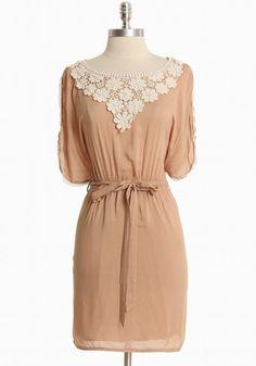 Cafe Chartres Flutter Sleeve Dress